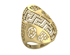 Nova Diamond Ring 3D printable model