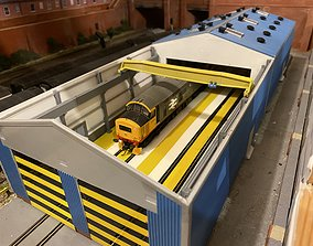 3D print model OO Loco Shed Overhead Crane to fit 2