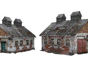 Old house Kolkhoz 02 01 3D asset