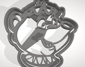 3D print model Mrs Potts cookie cutter with intricate
