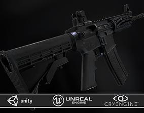 3D asset M4A1 RIS High detail