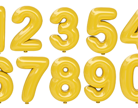 Balloon Numbers 0 - 9 3D