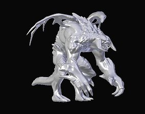rigged Roshan Dota2 3D Printable model Rigged and Subsurf