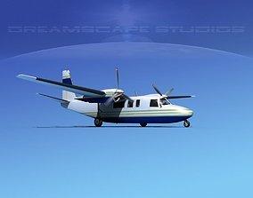 Rockwell Turbo Commander 690 V08 3D model