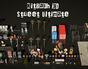 low-poly KitBash 3D Street Ultimate