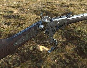 3D asset Burnside Carbine 1865
