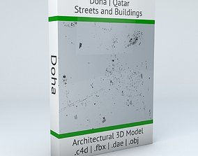3D model Doha Streets and Buildings