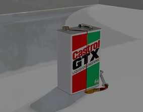 3D model Castrol GTX Engine OIl Tin 5Ltr