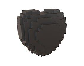 3D asset Voxel Heart v1 001
