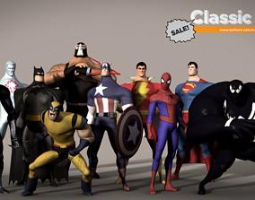 3D Classic Superhero Pack