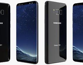 3D model Samsung Galaxy S8 Plus Midnight Black