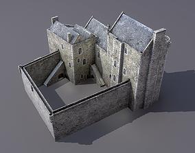 Doune castle 3D asset