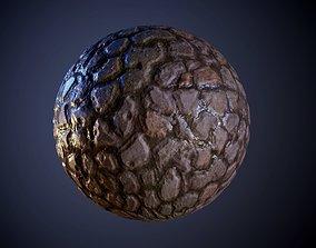 Cobblestone Muddy Ground Seamless PBR Texture 3D