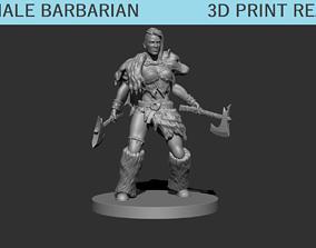 3D print model Female Barbarian Miniature