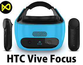 HTC Vive Focus Blue Set 3D model