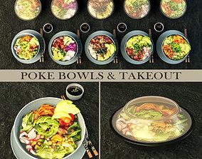 Poke bowl take out 3D