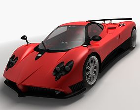 Pagani Zonda F Low Poly 3D