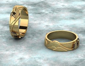 3D print model rings with landscape