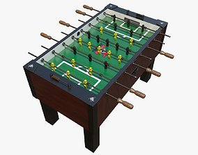Foosball Table 3D model animated PBR