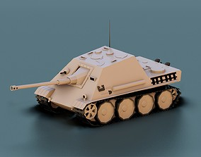 Low Poly Jagdpanther Tank 3D asset realtime