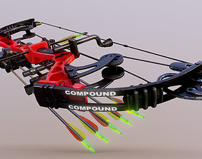 Compound Bow 3D model game-ready