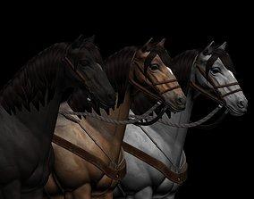 Horse realistic 3D model