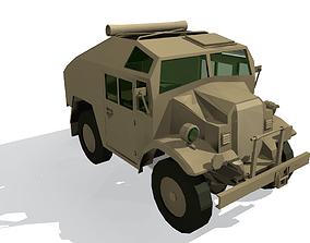 Quad Gun Tractor 3D asset game-ready