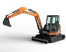 Rigged Hitachi Zaxis 55U - ZX55U Hydraulic Excavator 3D