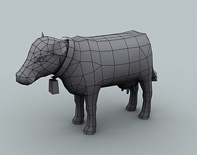 low-poly Model for texturing Milk Cow