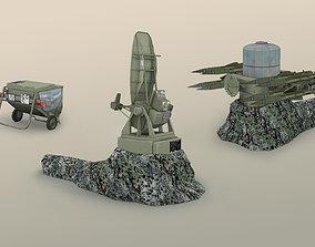 3D model Rapier surface-to-air missile