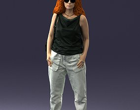 Woman with red hair 0081 3D Print Ready