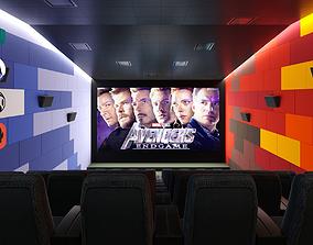 animated Cinema design 3D scene for Cinema 4D and