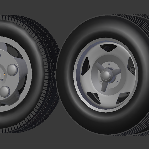 COVER WHEEL OF TOYOTA COASTER 3D MODEL