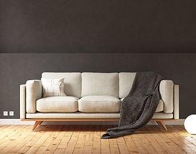 Sofa- scandinavian style- photorealist 3D