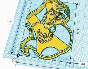 3D printable model The Little Mermaid Ariel Cookie Cutter