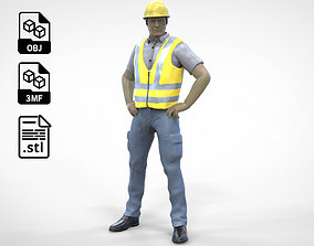 3D printable model N3 Construction Worker 1 64 Miniature