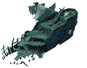 3D Game Gulf Shipwreck - Wreck 5 ox