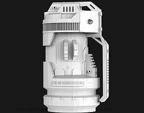 3D asset Sci-fi Grenade