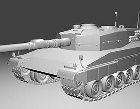 Leopard Tank - Plain 3D model