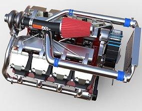 detail V8 Diesel Turbocharged Engine Conceptual Model