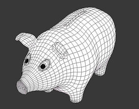 dollar Piggy Bank 3D model