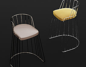 3D modern Bar chair 3