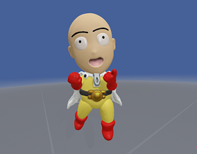 baldhead 3D Model of One Punch Man Anime Character