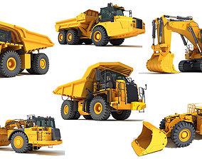 3D model Mining Vehicles Pack