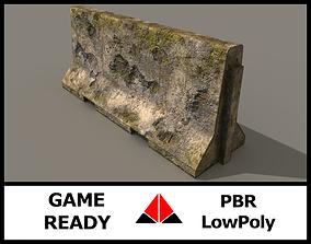 3D asset PBR Concrete barrier