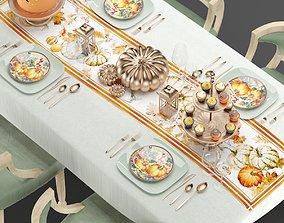 3D model Halloween Table setting