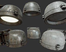 Bunker Wall Lamp PBR 3D asset