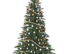 3D Christmas tree winter