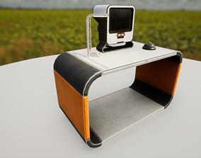 Retro sci-fi interior objects 3D asset