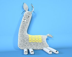 Soft Toy Of Lama 3D